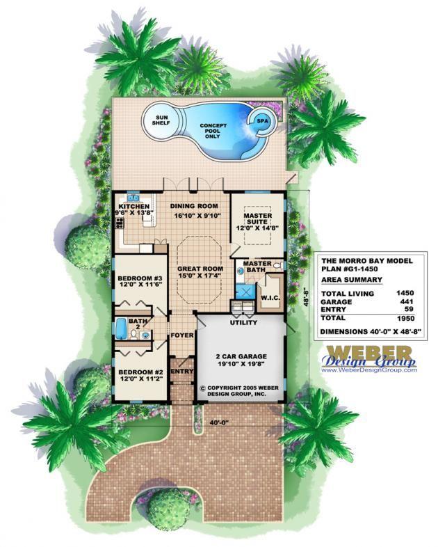 Bay House Plans morro bay home plan-narrow house plansweber design group