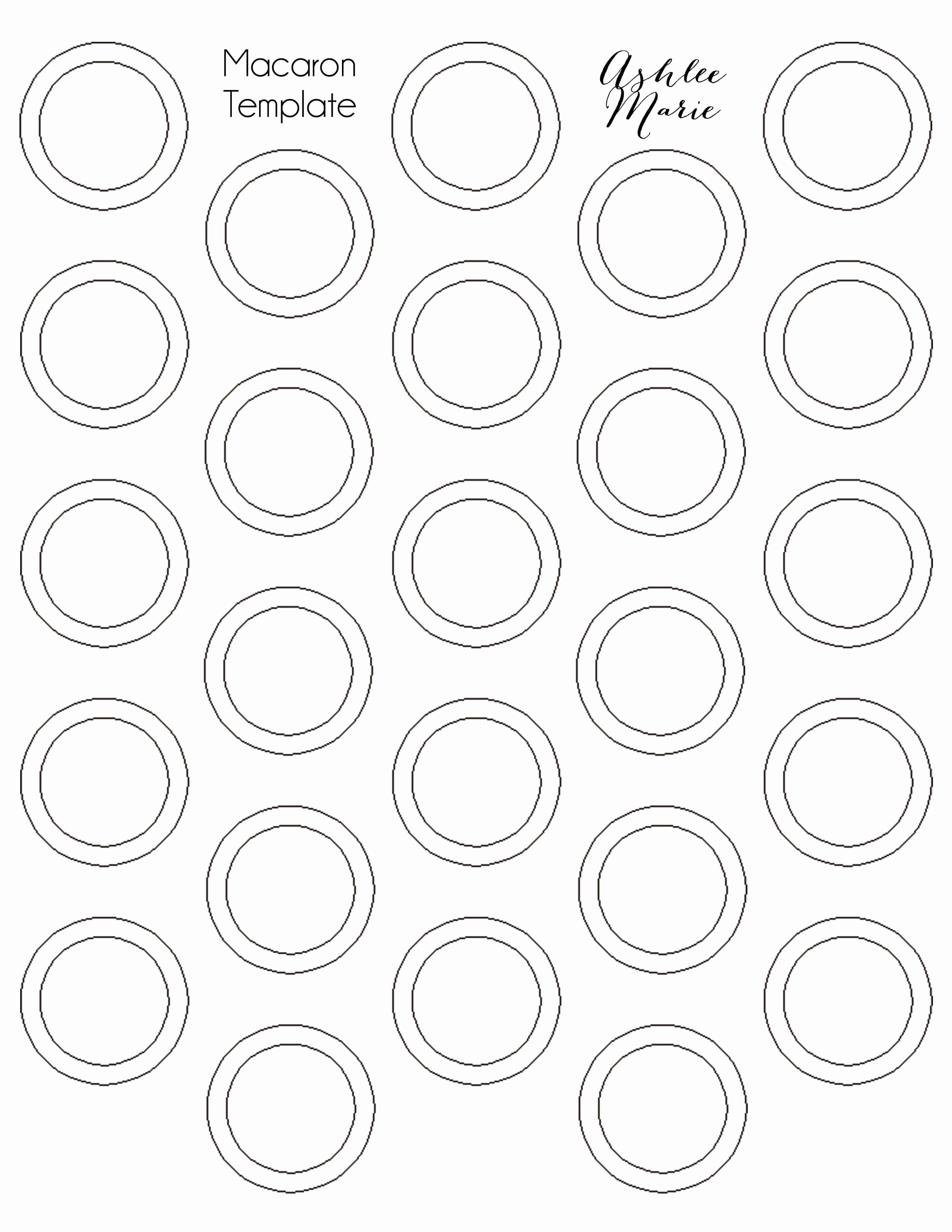 1 Inch Circle Template Beautiful Chocolate Mint Macarons In 2020 Macaron Template Macaron Recipe Macaroon Cookies