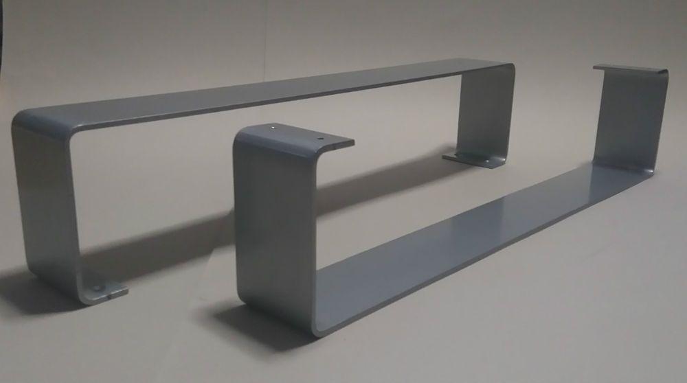 2er Set Metall Sofafuß Couchfuß Möbelfuß Möbelfüße Metallfuß + neue Filzgleiter