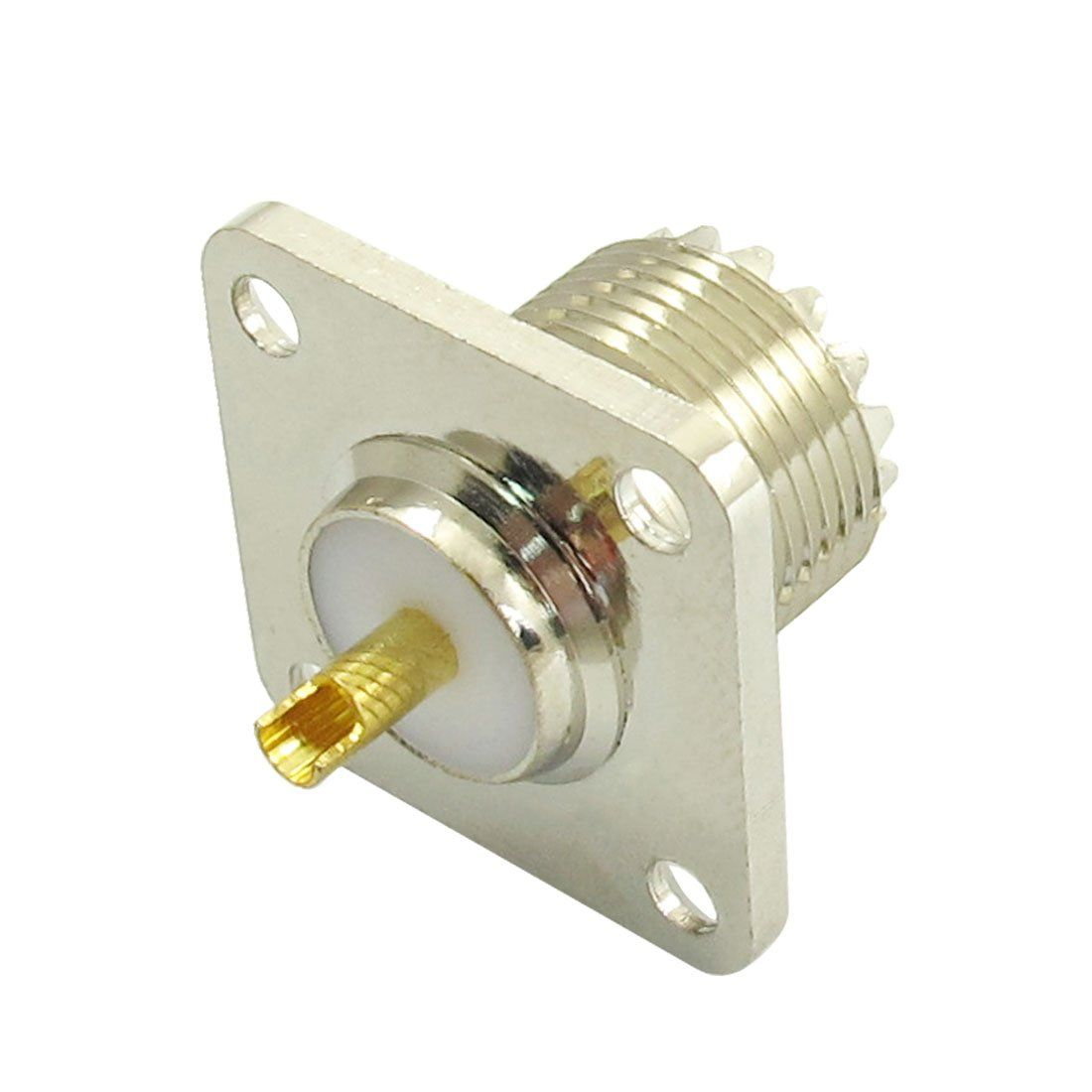 So female jack square shape solder cup coax connector for radio