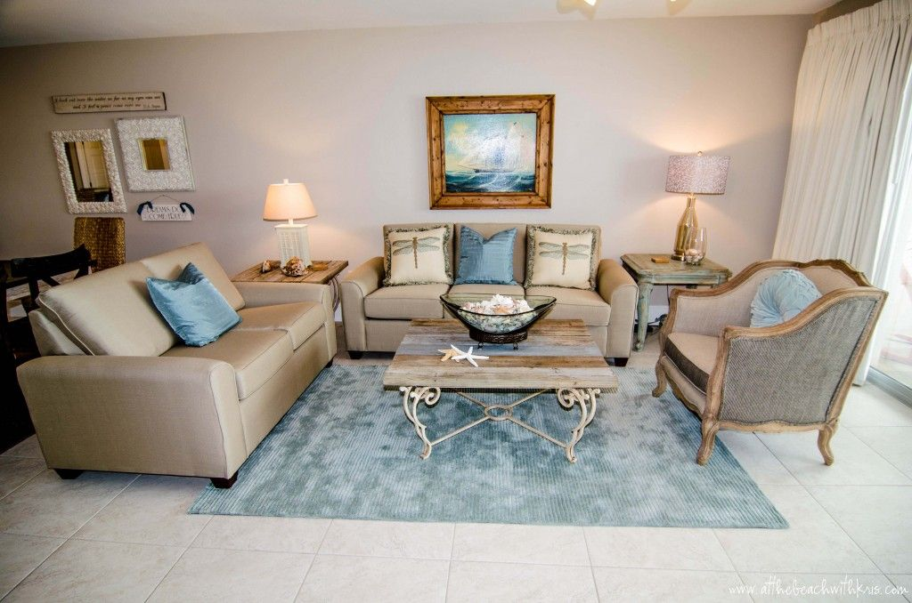 Before after a beach condo renovation in destin fl for Beach condo interior design ideas