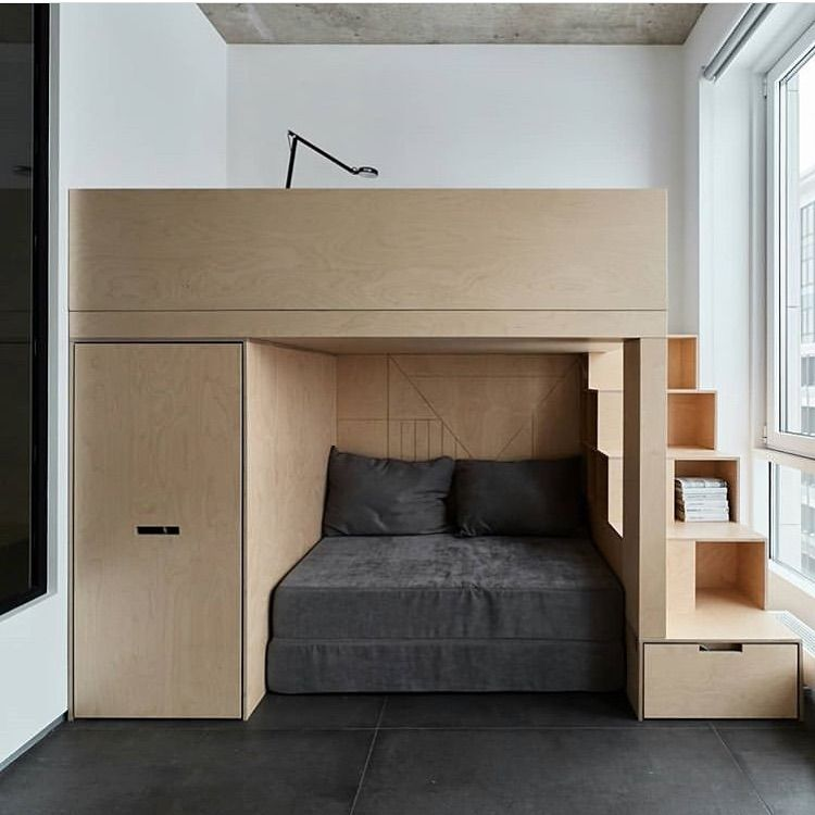 The Compact Homeはinstagramを利用しています When Space Is Limited Make It Count Twice Compactliving Tinyhous Small Room Bedroom Bedroom Design Bedroom Interior