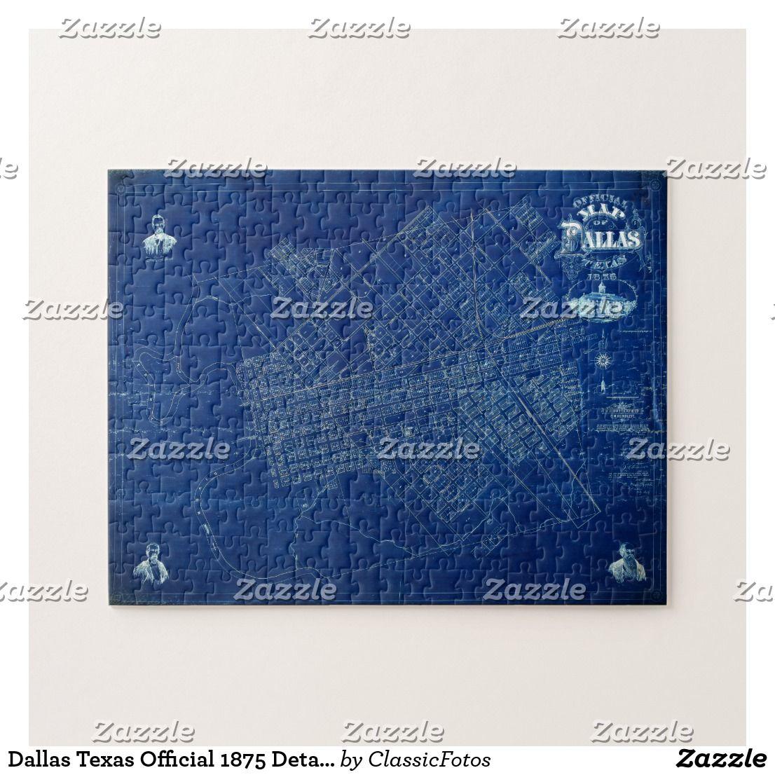 Dallas texas official 1875 detailed blueprint map jigsaw puzzle dallas texas official 1875 detailed blueprint map jigsaw puzzle malvernweather Image collections