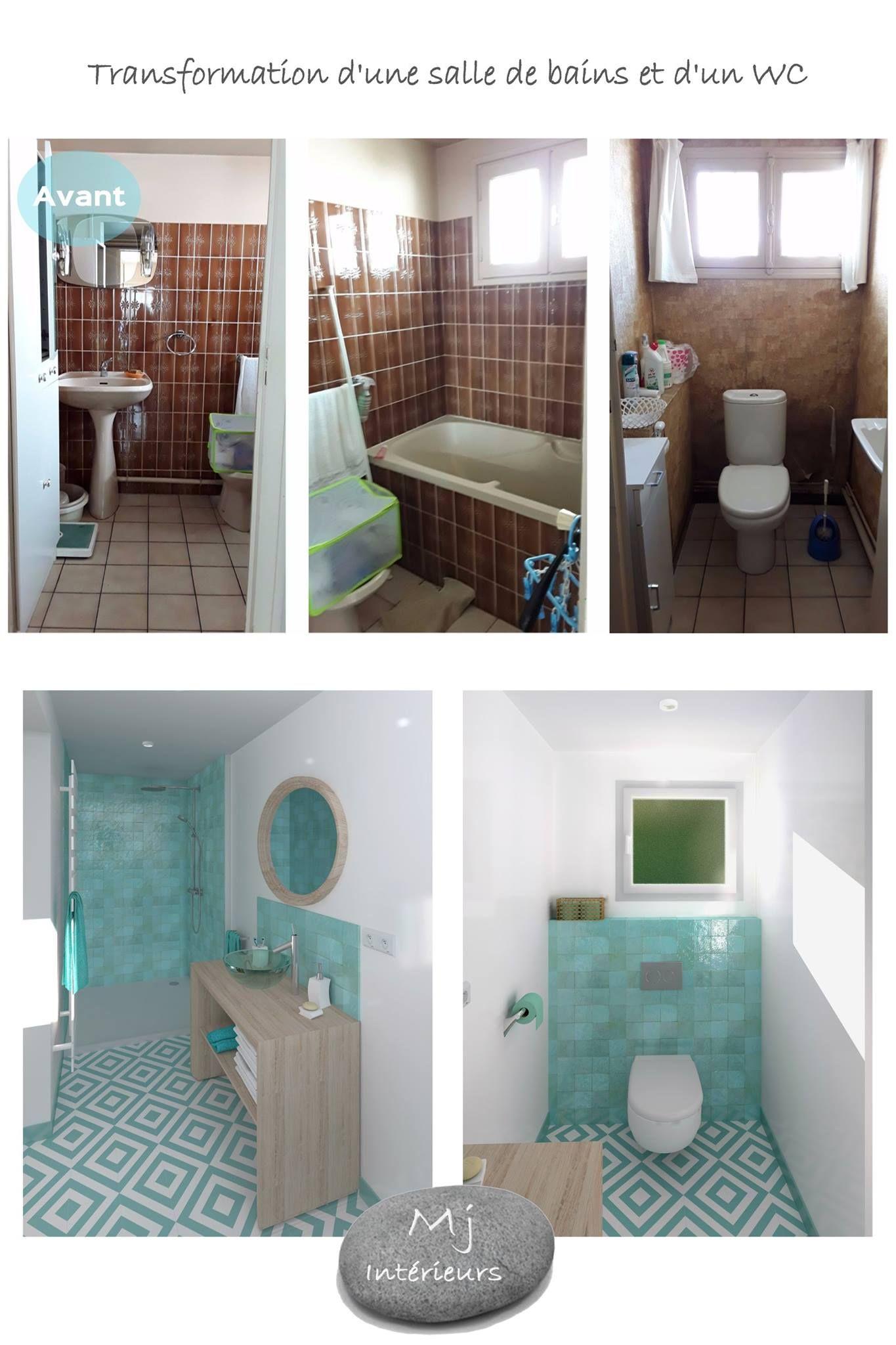 Rénovation Salle De Bain Avant Après avant/après salle de bain wc - rénovation complète d'une