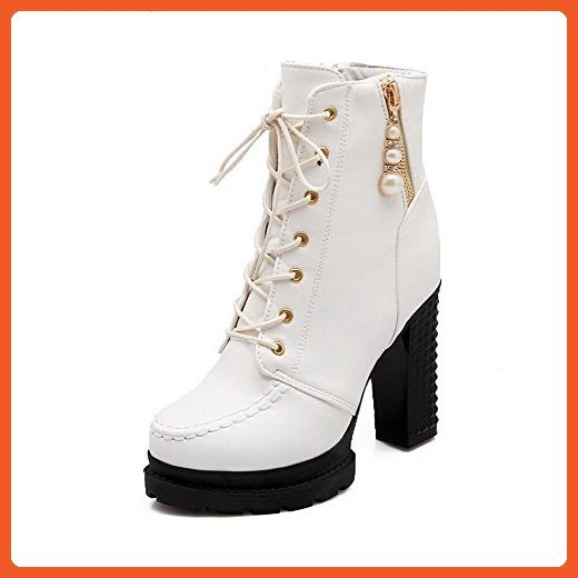 Women's High Heels Solid Round Closed Toe Zipper Boots with Gem