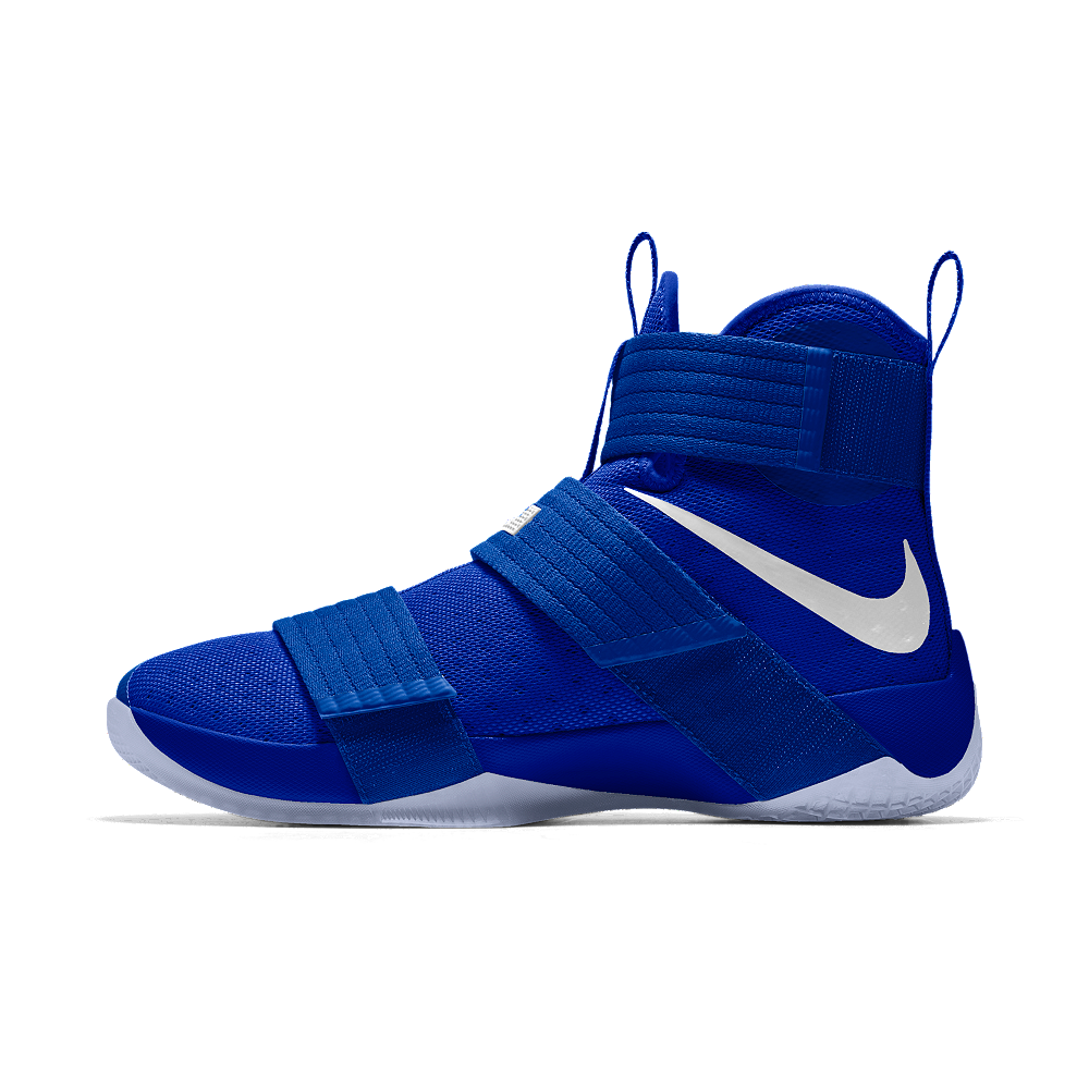 bcaa95b00b29 Nike Zoom LeBron Soldier 10 iD Men s Basketball Shoe Size 12.5 (Blue ...