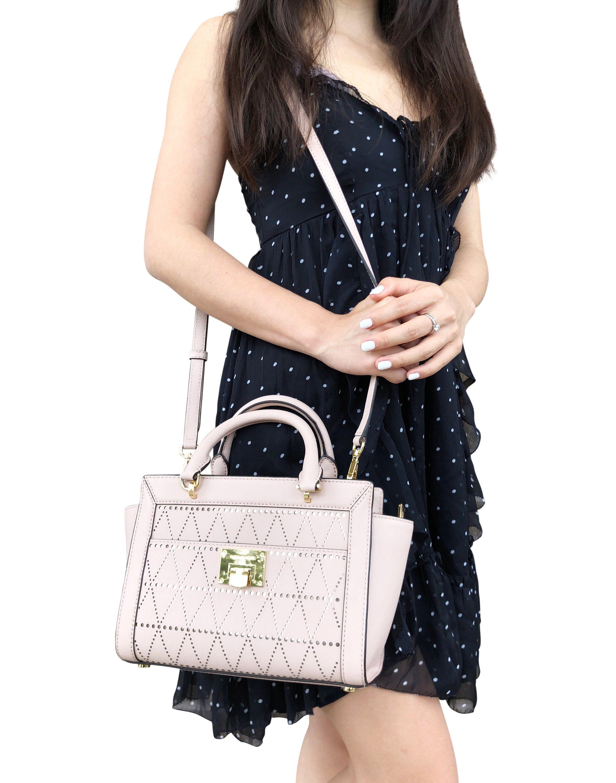 6cc70bdae0bf Michael Kors Tina Small Top Zip Satchel Handbag Crossbody Ballet Pink  #ebayreseller #ebaycommunity #ebayseller #MichaelKors #ebayresellers #posh # tradesy ...