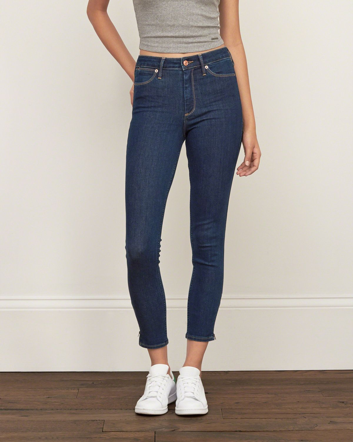 High Rise Ankle Super Skinny Jeans Outfits Con Jeans Women Jeans Jeans
