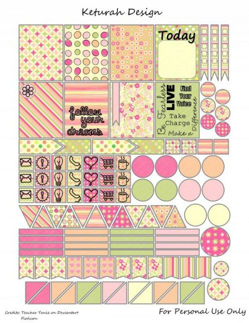 Planner & Journaling Printables ❤ planner freebie, stickers, ECLP, PlumPaper
