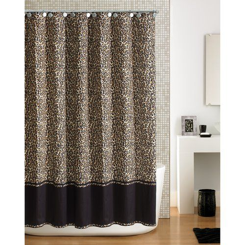 Walmart Hometrends Cheetah Shower Curtain Shower Curtains