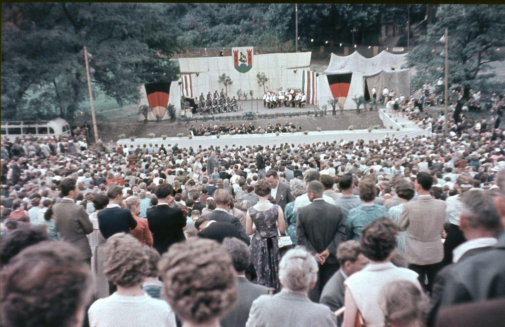 Eröffnung der Freilichtbühne in Spremberg 1958