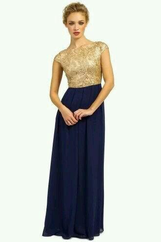 Navy Blue And Gold Dress Navy Bridesmaid Dresses Chiffon Maxi Dress Gold Bridesmaid Dresses