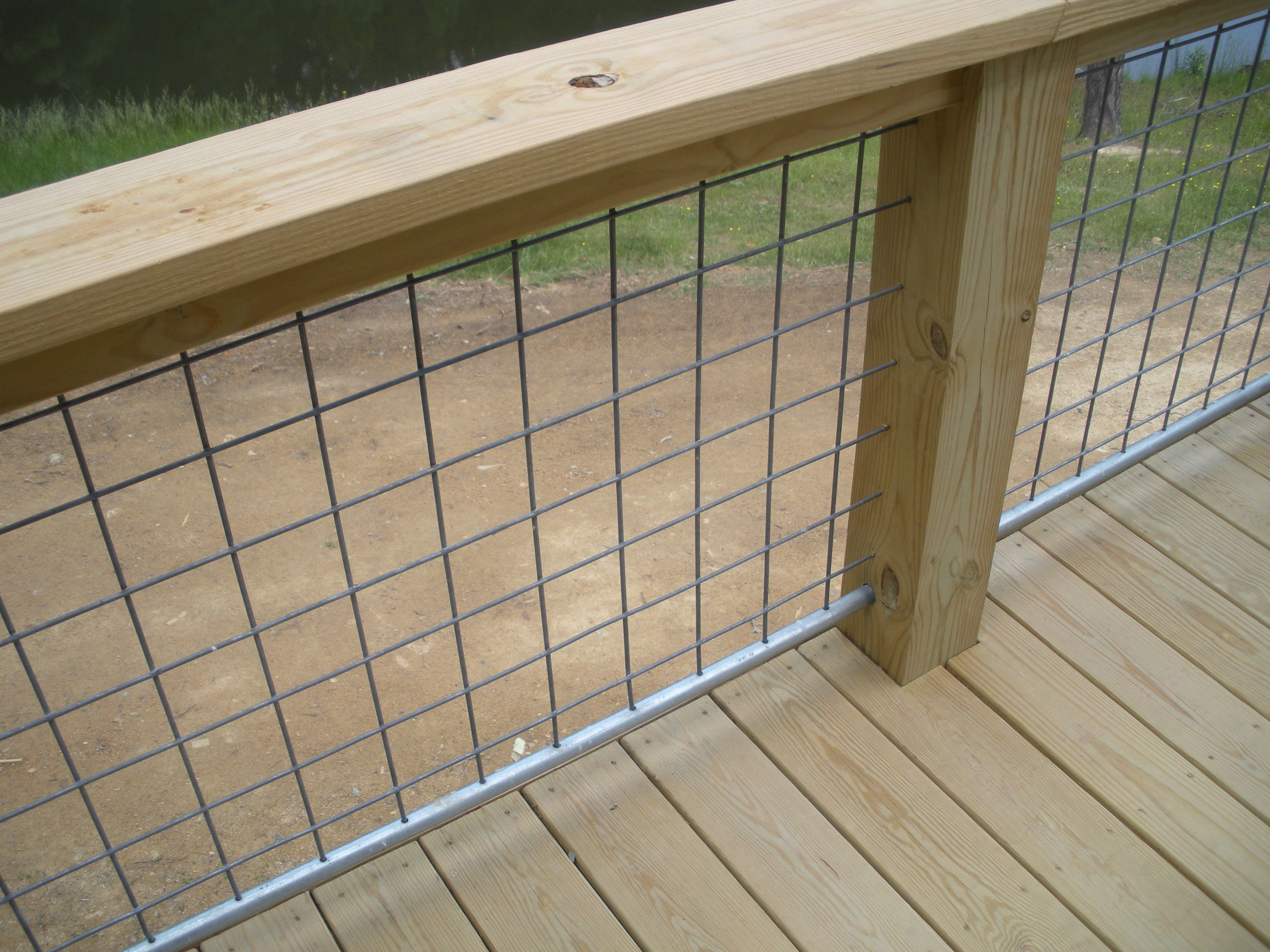 goat wire fencing as railings - Google Search | Cabin | Pinterest ...