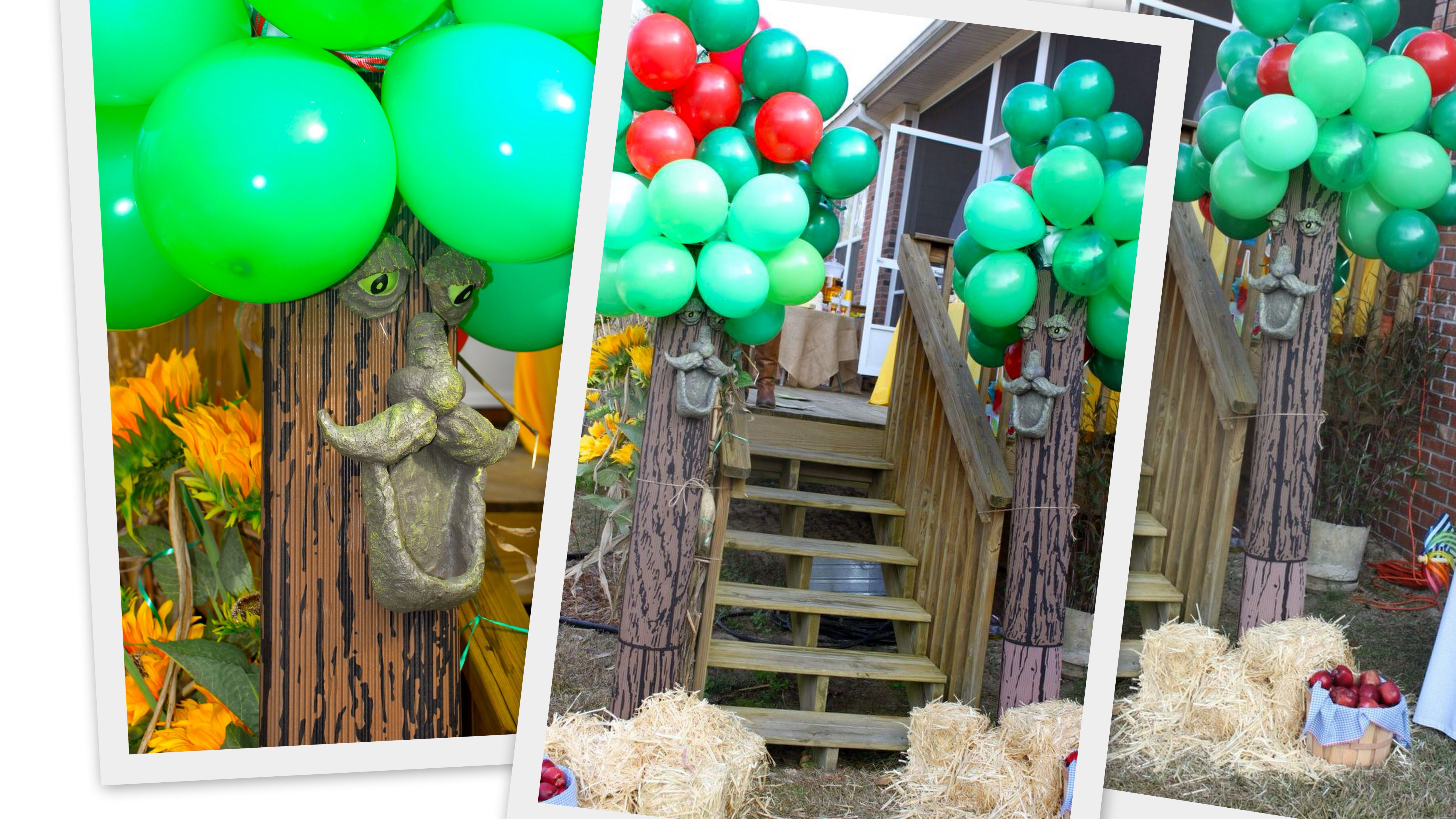 Faces for trees! And apples at their feet Wizard of Oz Party and - Wizard Of Oz Halloween Decorations