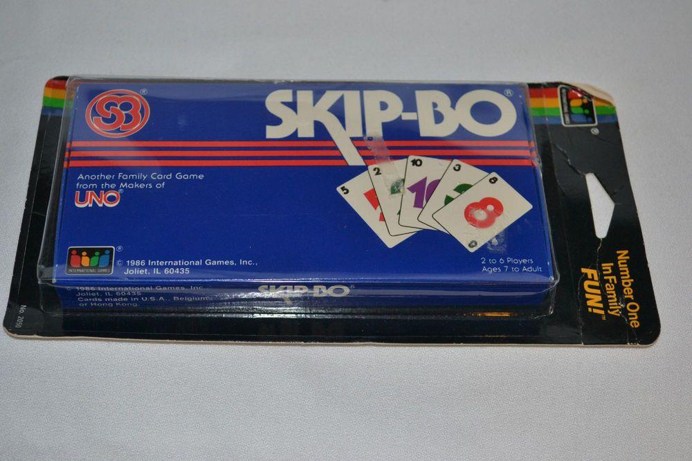 Vintage 1986 Skip Bo Cards International Game Inc Original Pack
