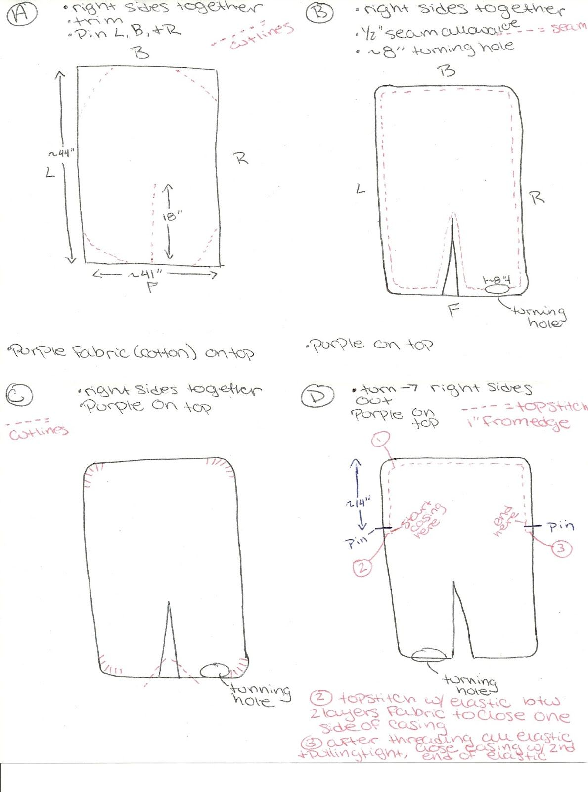 Car Seat Canopy Pattern Measurements