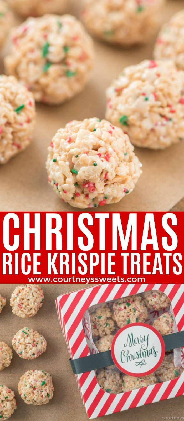 Yummy Christmas Rice Krispie Treats are a quick and easy non-traditional cookie #ricekrispiestreats