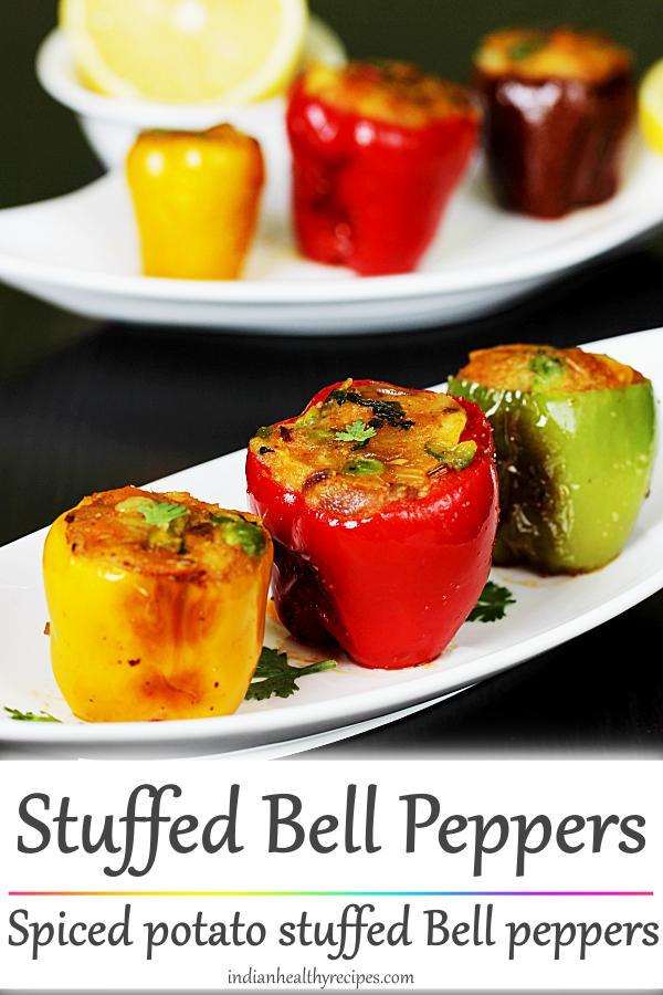 Stuffed Capsicum Stuffed Bell Peppers Recipe Recipe Stuffed Peppers Capsicum Recipes Bell Pepper Recipes