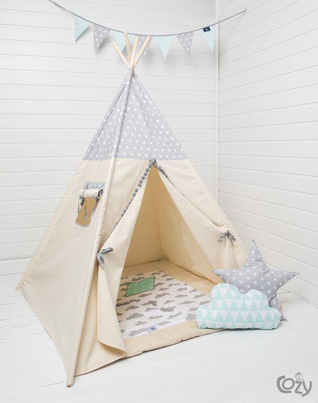 Zelt Fur Kinderzimmer Indianer Tipi Spielzelt Pinterest