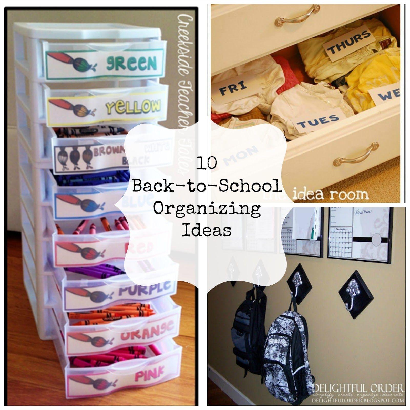 10 Back-To-School Organization Ideas | School organization and School