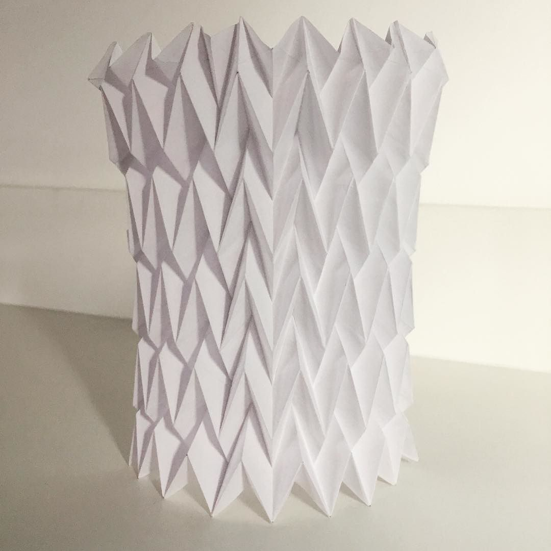 Origami | herringbone cylinder | tessalation - further paper folding ...