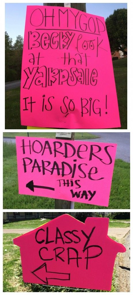 The BEST Yard Sale And Garage Tips Have Stellar Signs
