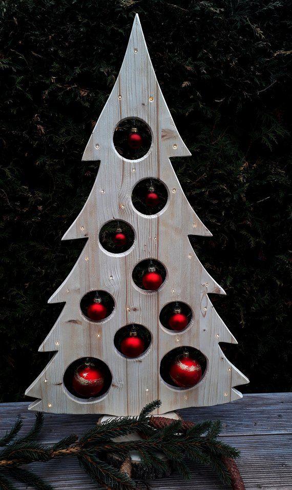 Weihnachtsdeko Baum Holz.Weihnachtsbaum Holzdeko 30er Led Advent Weihnachtsdeko Baum Kugeln