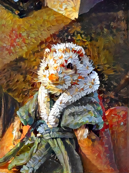 Flower Ferret, AI (Deep Dream Generator) , 2020 Art in