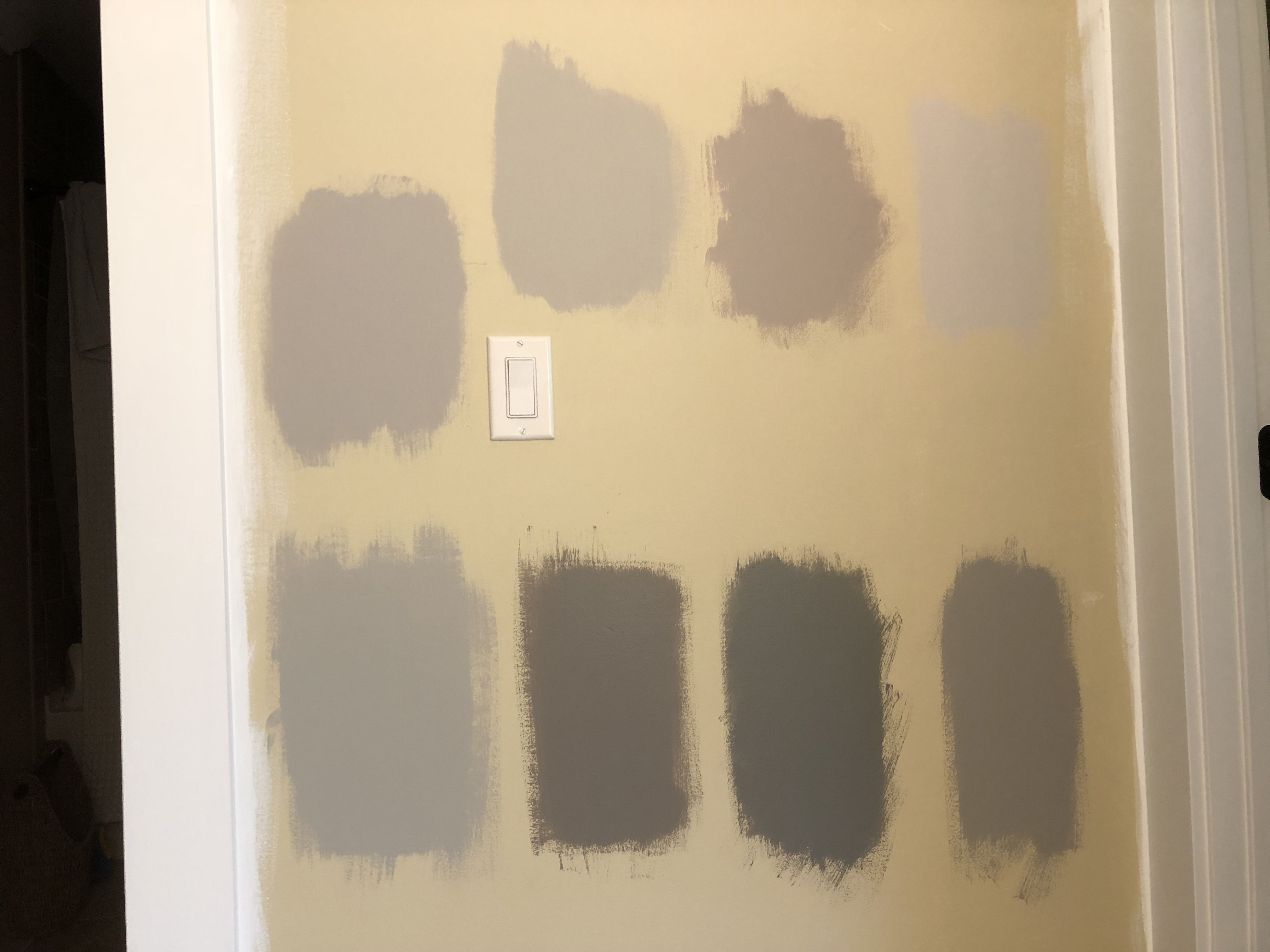 Amazing Grey Paint All Sherwin Williams Top Row Left To Right Sw Requisite