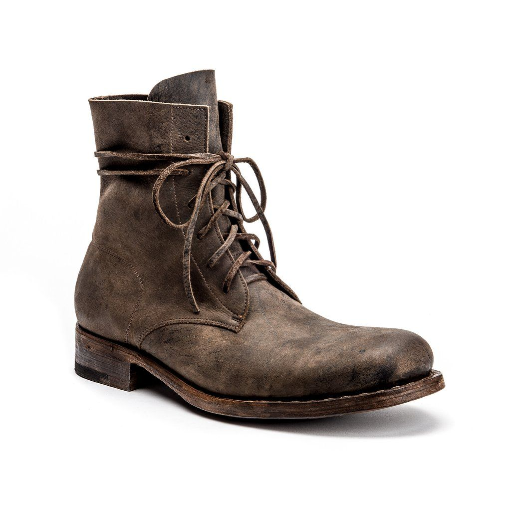 Julius Goodyear Boot in Flint is part of Goodyear boots - These limited production boots with a Goodyear Welt are 100% hand sewn  even the sole!