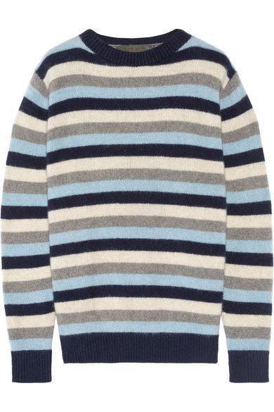 290d1e6e4b7 The Elder Statesman - Picras Striped Cashmere Sweater - Navy ...