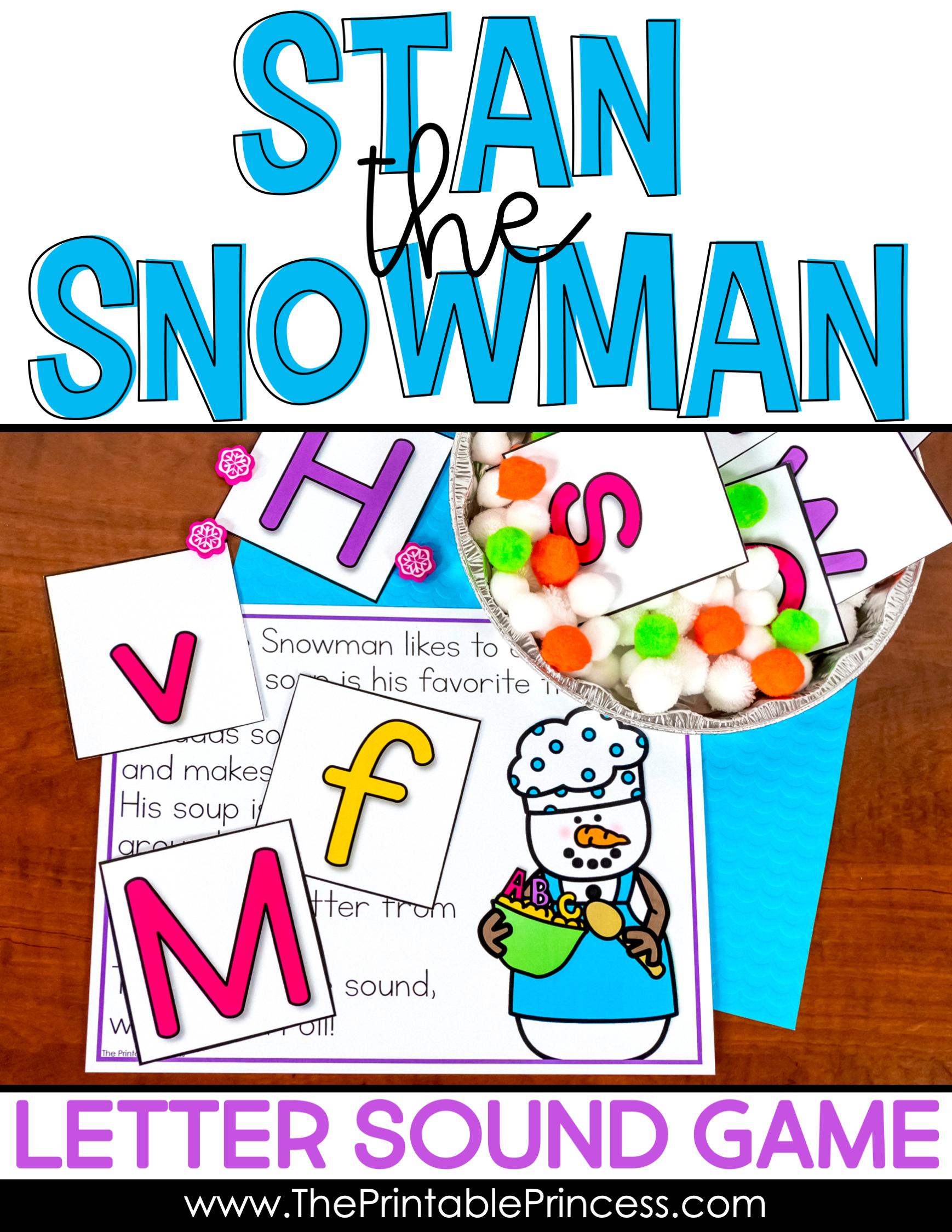 Snowman Activities Letter Sounds Practice Letter sounds