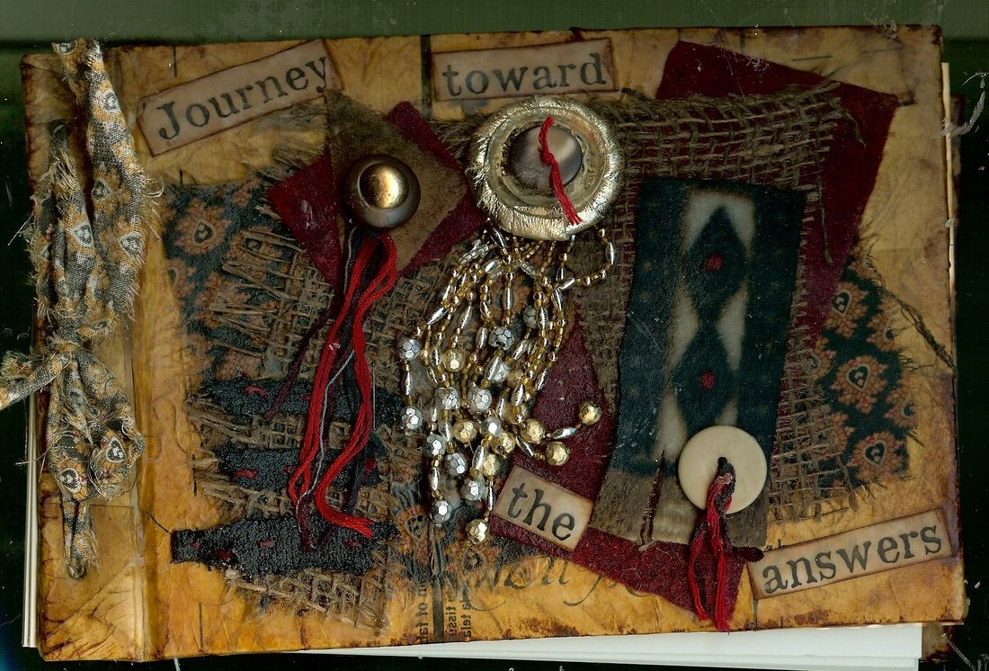 """Mixed Media Journal, """"Journey Toward the Answers"""""""