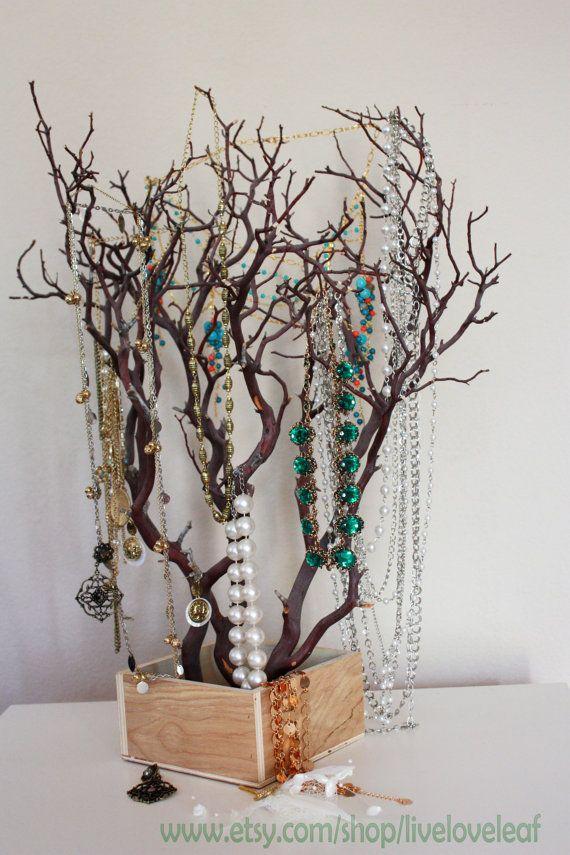Natural Manzanita Branch Jewelry Tree Jewelry Organizer Unique Jewelry Holder Real Tree Branch Wish Tree Centerpiece Display Unique Jewelry Holder Diy Tree Jewelry Tree