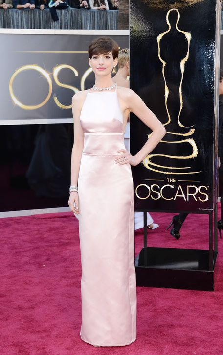 What do we think of Anne Hathaway's Prada at the Oscars?