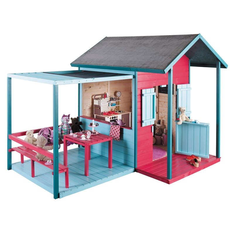cabane enfants kook playhouse ideas pinterest. Black Bedroom Furniture Sets. Home Design Ideas