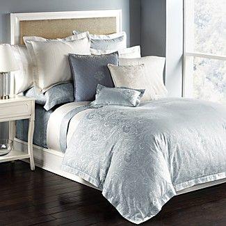 Ralph Lauren Suite Paisley Pale Blue King Comforter