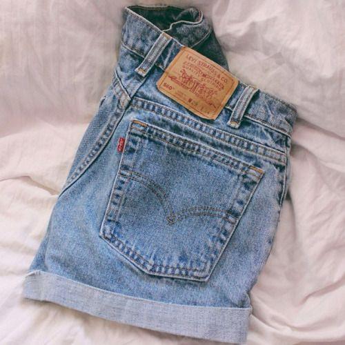 Inhale Fashion Clothes High Waisted Shorts Denim
