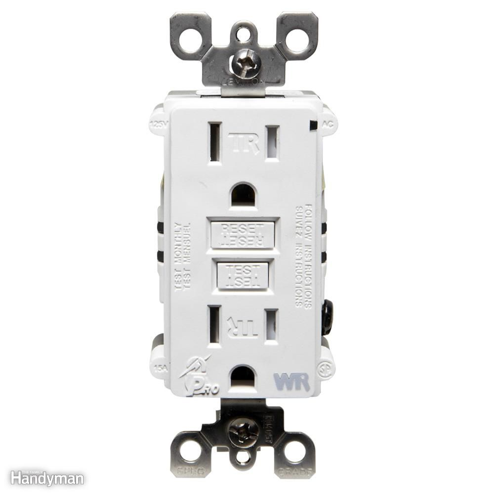 Wiring A Switch And Outlet The Safe Easy Way Good To Know 2 Kitchen Socket Diagram Gfcis Are Required In Areas Where Dampness Or Water Could Contribute Dangerous Shock Kitchens Bathrooms Garages Outdoors