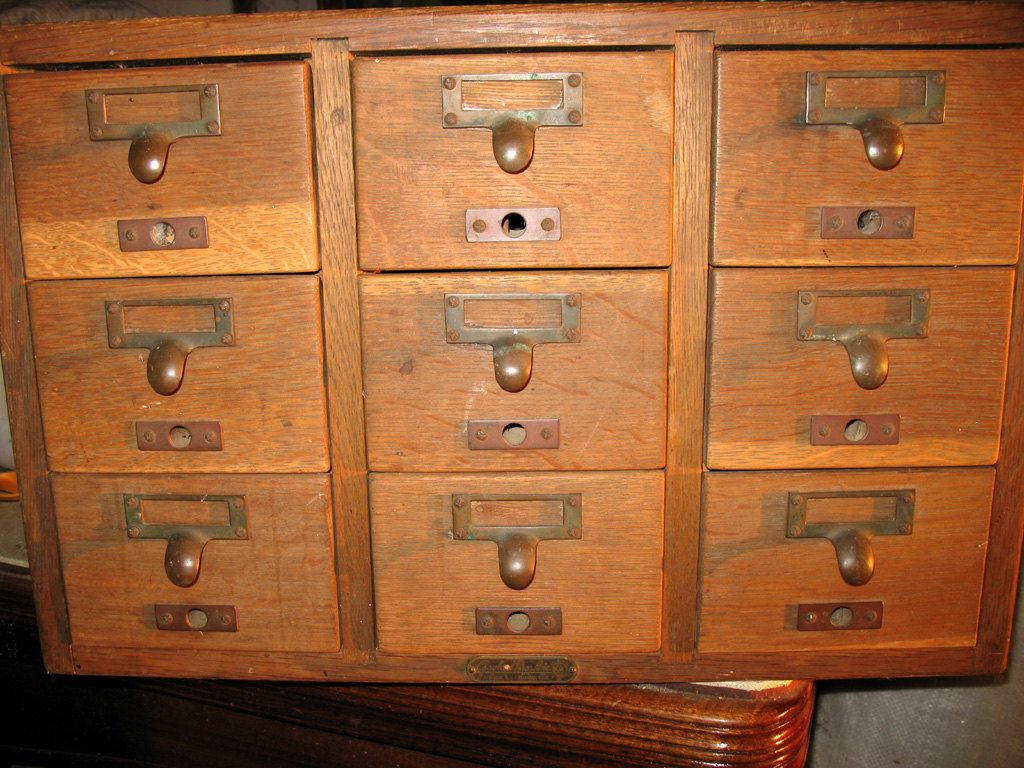 Vintage Oak 9 Drawer Library Card File by Gaylord Bros.. $185.00 via Etsy. & Vintage Oak 9 Drawer Library Card File by Gaylord Bros.. $185.00 ...