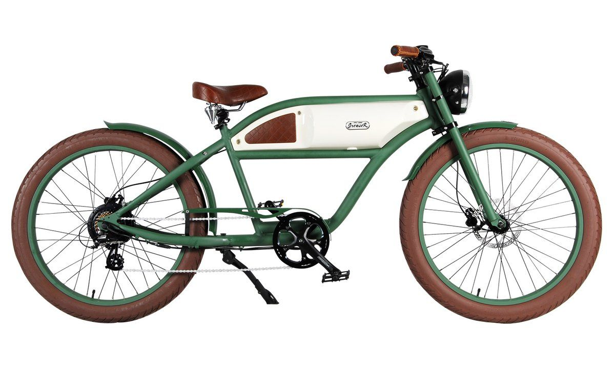 Michael Blast T4b Greaser 500w Electric Bike Cafe Racer Green