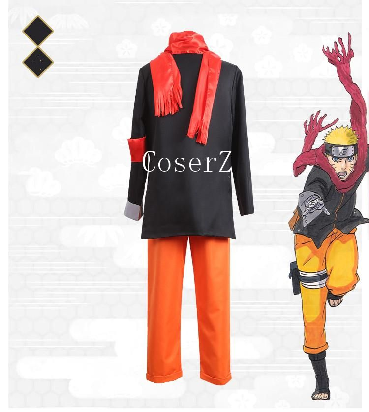 Boruto Uzumaki Naruto the Movie Anime Cosplay Costume Full Suit Uniform