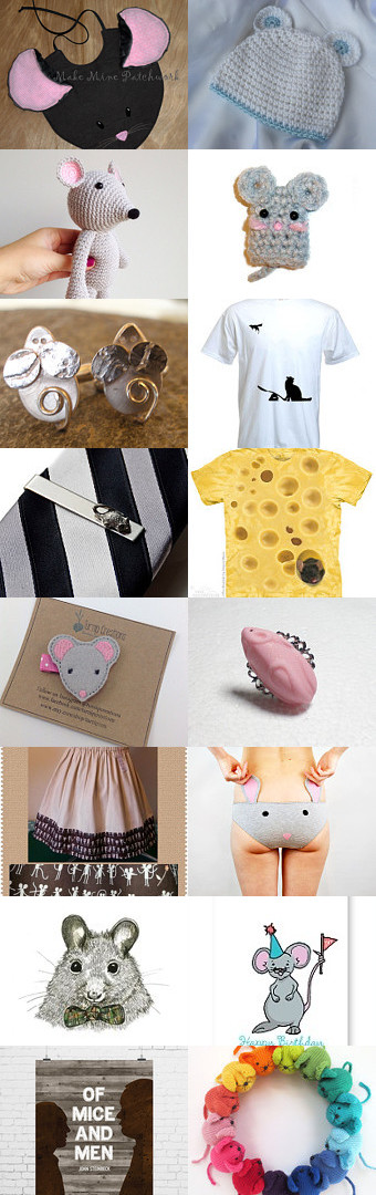 This has got to be one of my favorite treasuries ever on Etsy.  So many fund things accompanying my mouse bib.