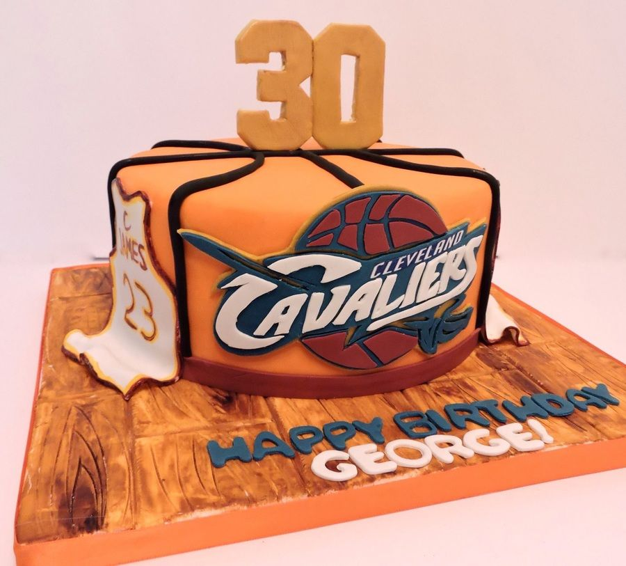 Cleveland Cavaliers Basketball Cake For Mans 30th Birthday Ball