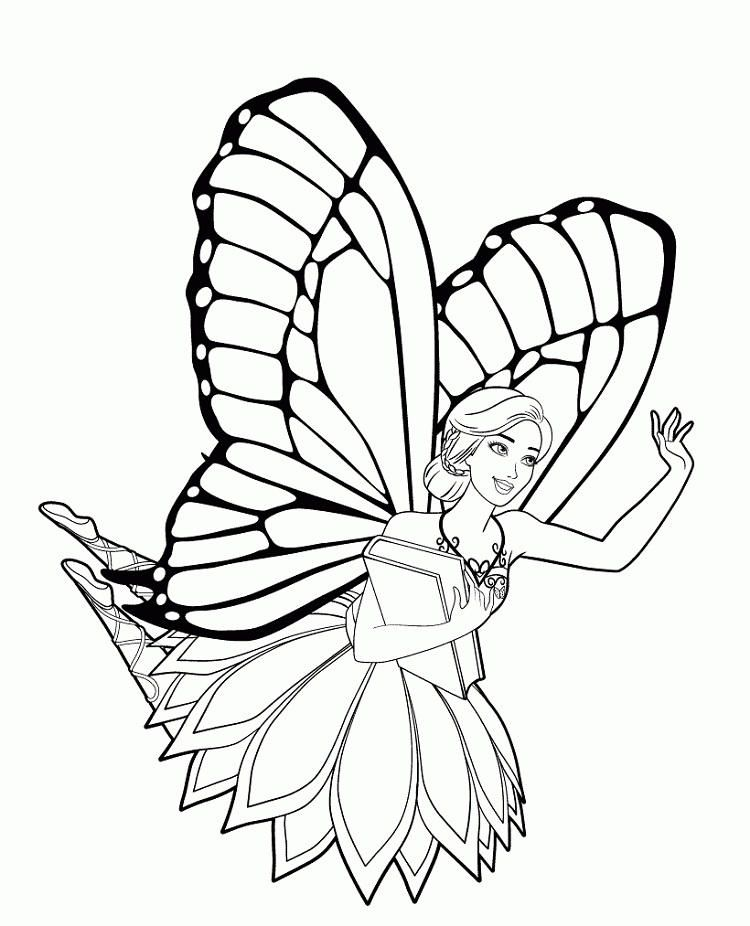 Barbie Butterfly Coloring Pages Butterfly Coloring Page Barbie Coloring Pages Princess Coloring Pages