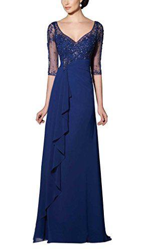 UniWedding Women's Elegant Long V-neckline Sheer Sleeves Embellished Gown US 18 UniWedding http://www.amazon.com/dp/B00Z5C70GU/ref=cm_sw_r_pi_dp_mhSTvb0SBQQSP