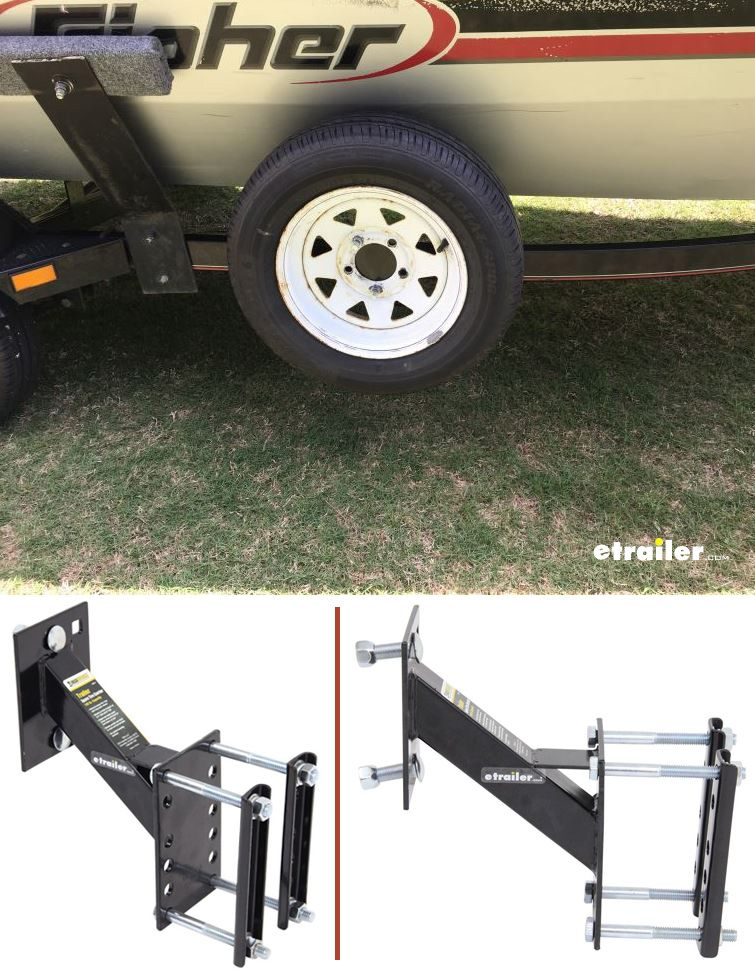 Maxxtow Spare Tire Carrier For 3 X 5 Trailer Frames 4 Lug And 5