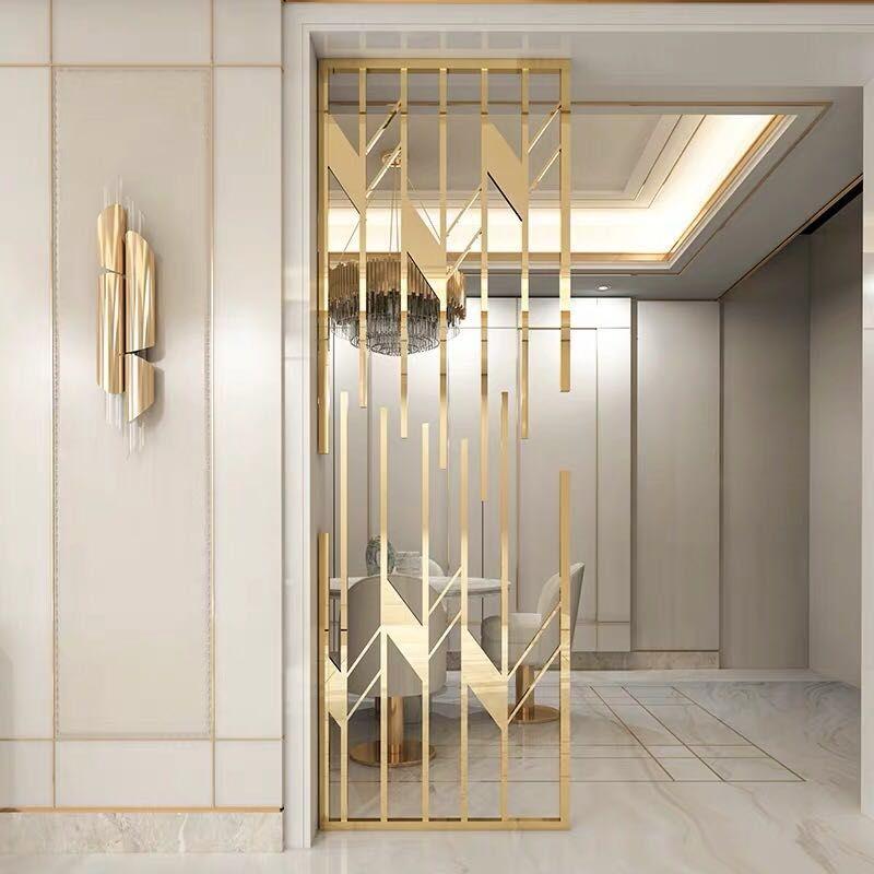 Metal Screen Metal Interior Design Living Room Partition Design Room Partition Designs