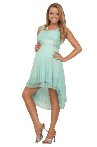 Hi Low Sleeveless Sheer Gathered Satin Layered Evening Cute Maternity Dress Hot From Hollywood Http