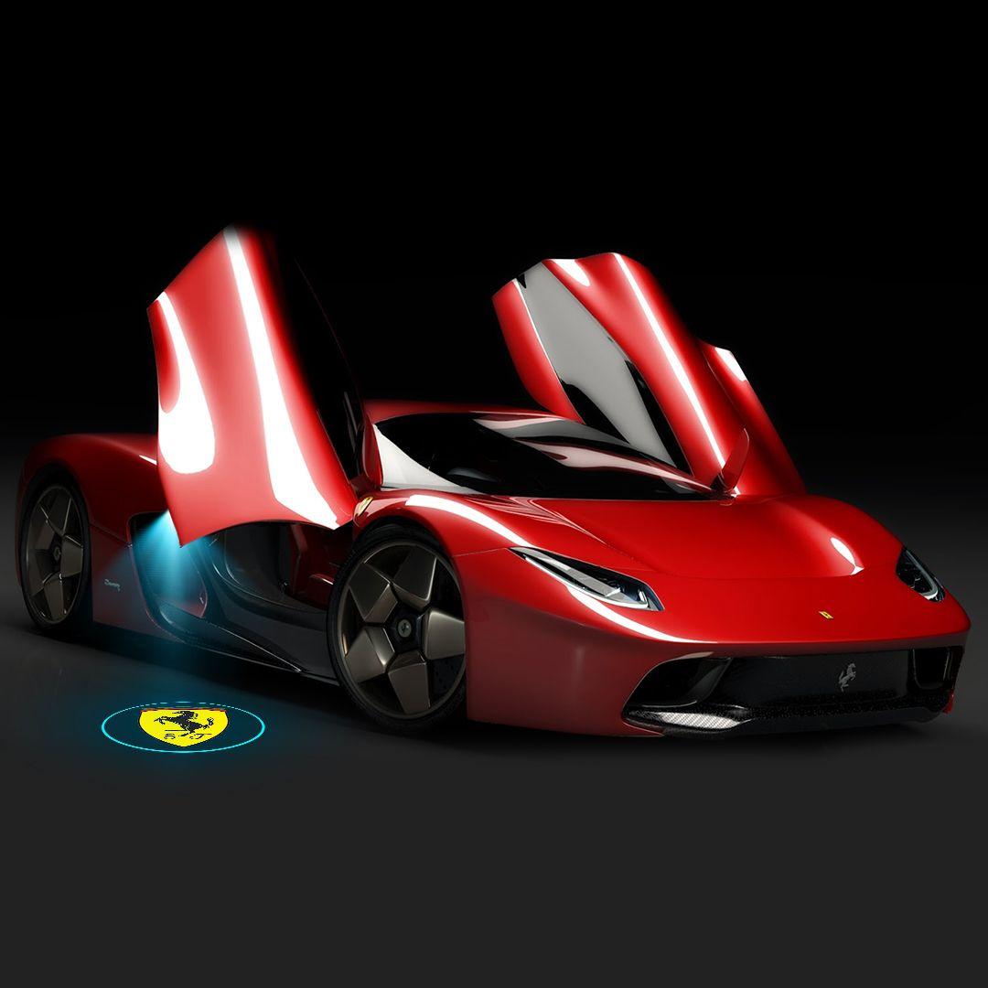 Ferrari Car Logo Door Lights Welcome Led Laser Projector Car Atmosphere Light Upgrade Led Logo Lighting Logo Car